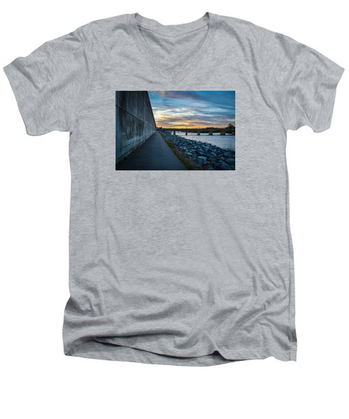 Rva Flood Wall Men's V-Neck T-Shirt