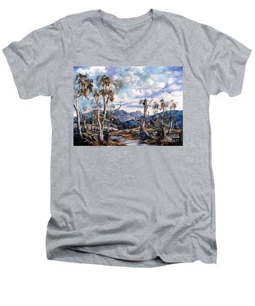 Rwetyepme, Mount Sonda Central Australia Men's V-Neck T-Shirt