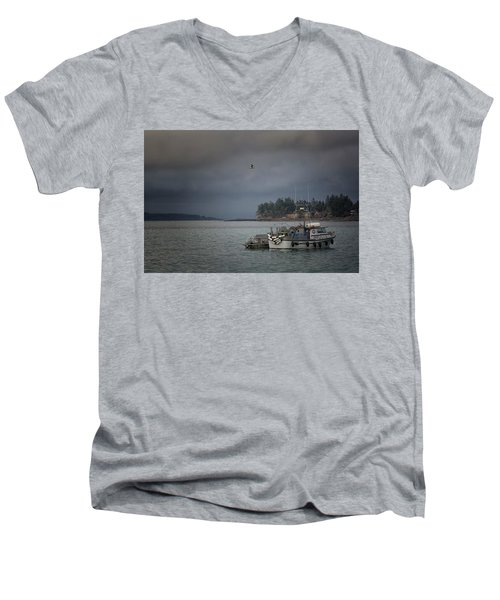 Men's V-Neck T-Shirt featuring the photograph Ryan D by Randy Hall