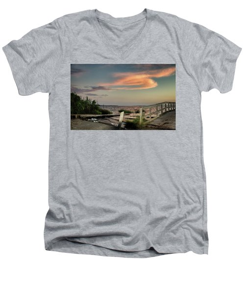Time Is A River Men's V-Neck T-Shirt by Phil Mancuso