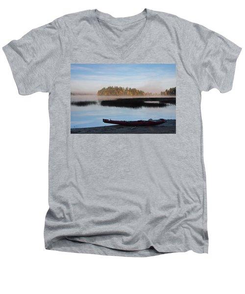 Sabao Morning Men's V-Neck T-Shirt by Brent L Ander