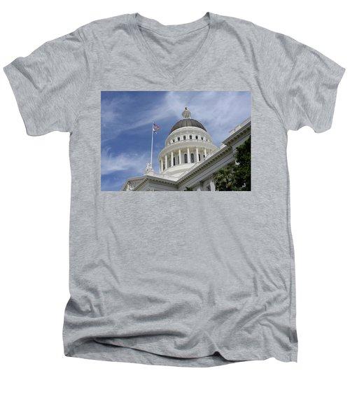 Sacramento Capitol Building Men's V-Neck T-Shirt