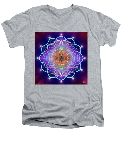 Sacred Geometry 641 Men's V-Neck T-Shirt