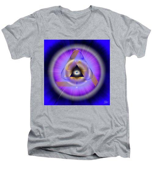 Sacred Geometry 642 Men's V-Neck T-Shirt by Endre Balogh