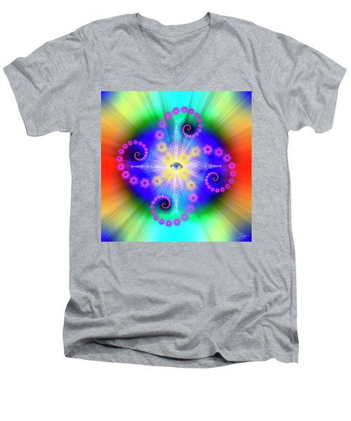 Sacred Geometry 653 Men's V-Neck T-Shirt