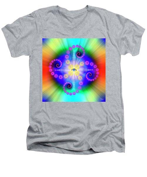 Sacred Geometry 653 Men's V-Neck T-Shirt