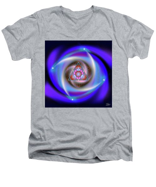 Sacred Geometry 687 Men's V-Neck T-Shirt