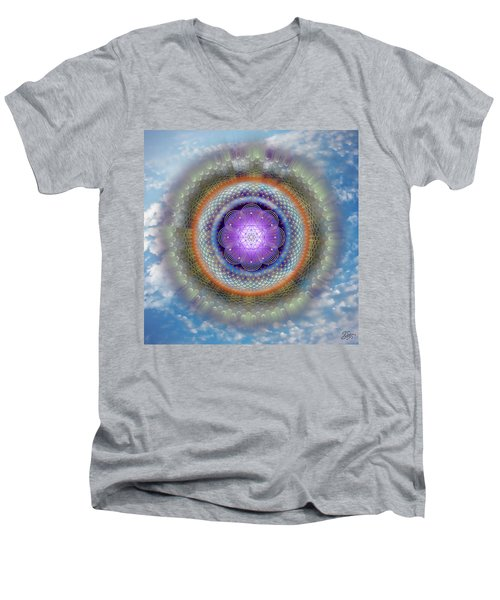 Sacred Geometry 716 Men's V-Neck T-Shirt