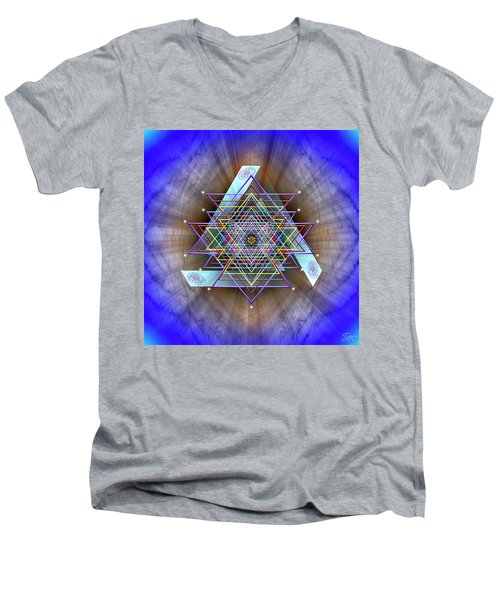 Sacred Geometry 717 Men's V-Neck T-Shirt