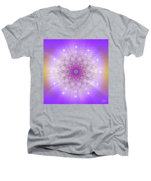 Sacred Geometry 721 Men's V-Neck T-Shirt