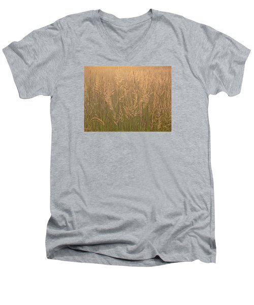 Sacred Morning Men's V-Neck T-Shirt by Tim Good