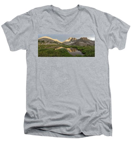 Men's V-Neck T-Shirt featuring the photograph Sacred Temple by Dustin LeFevre