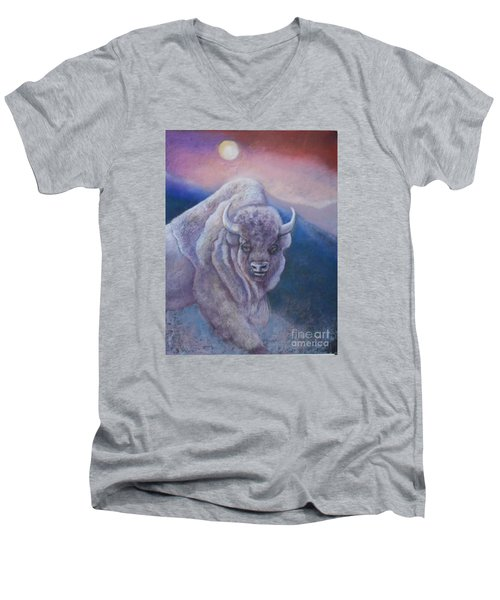 Sacred White Buffalo Men's V-Neck T-Shirt