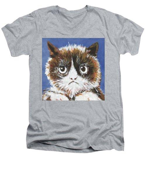 Sad Cat Men's V-Neck T-Shirt