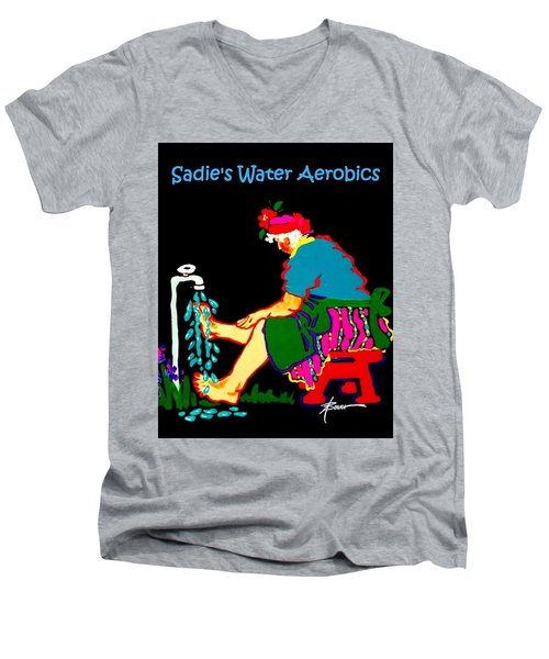 Sadie's Water Aerobics  Men's V-Neck T-Shirt