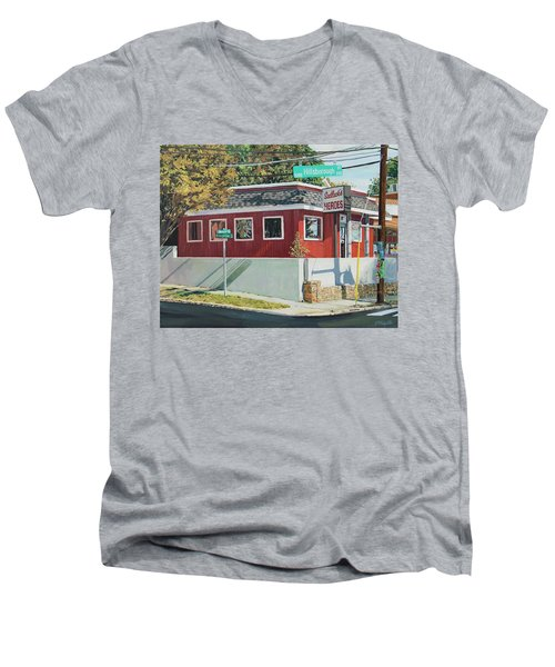 Sadlacks Restaurant Men's V-Neck T-Shirt