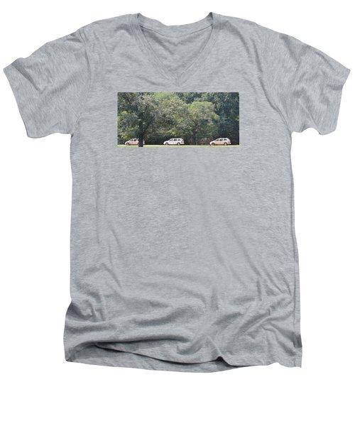 Safari Cars Men's V-Neck T-Shirt by James Potts