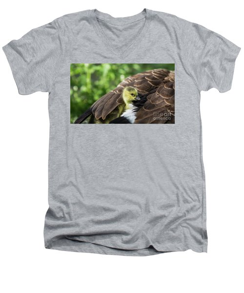 Safe Place Men's V-Neck T-Shirt by Eva Lechner