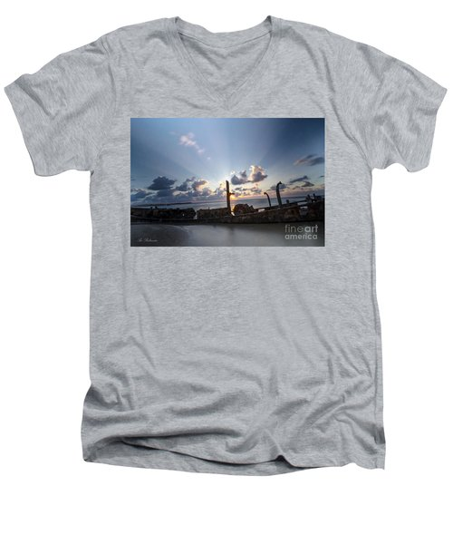 Safe Shore 02 Men's V-Neck T-Shirt