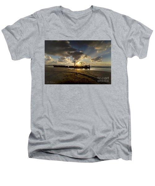 Safe Shore 04 Men's V-Neck T-Shirt