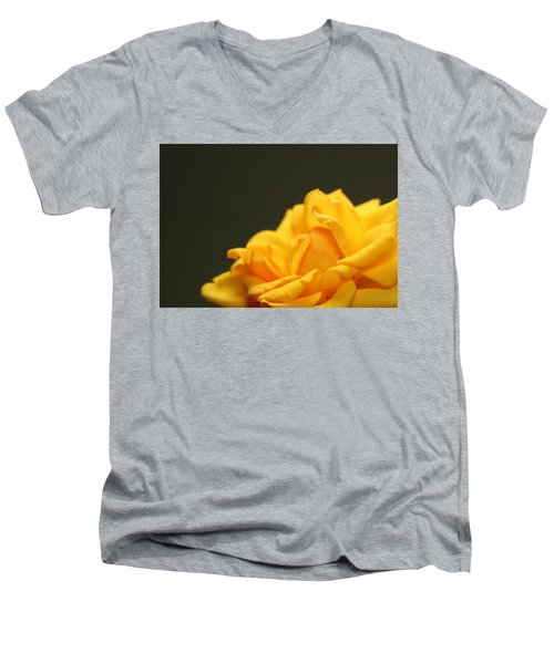 Saffron Mini Rose Men's V-Neck T-Shirt by Marna Edwards Flavell