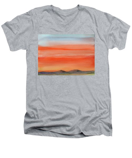Saffron On The Mountains Men's V-Neck T-Shirt