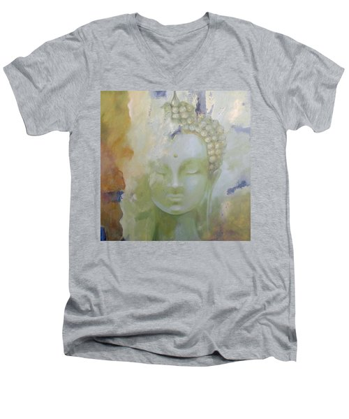 Sage Buddha Men's V-Neck T-Shirt by Dina Dargo