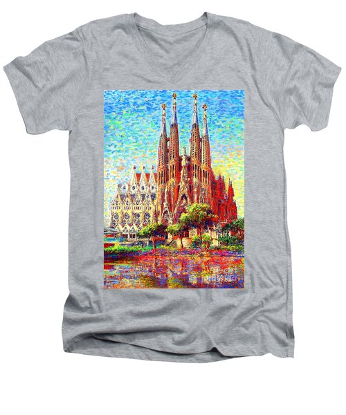 Sagrada Familia Men's V-Neck T-Shirt