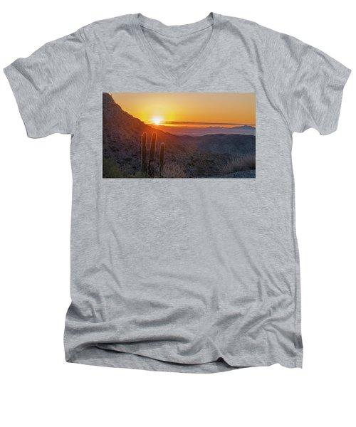 Saguaro Sunrise Men's V-Neck T-Shirt