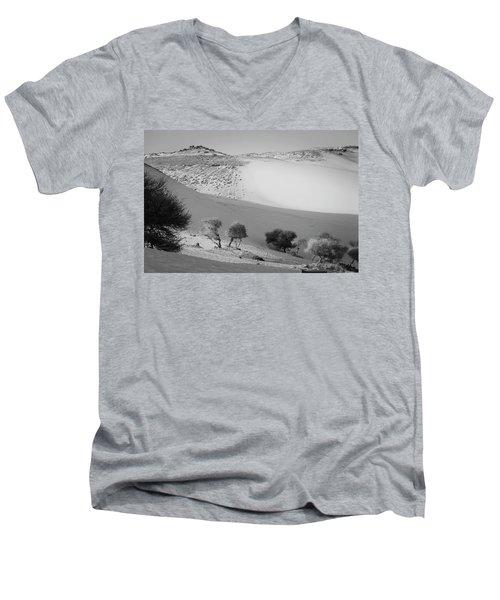 Sahara Men's V-Neck T-Shirt by Silvia Bruno