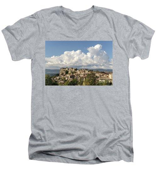 Men's V-Neck T-Shirt featuring the photograph Saignon Village Provence  by Juergen Held