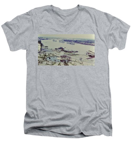 Saigon River, Vietnam 1968 Men's V-Neck T-Shirt
