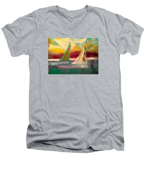Sail Away 1 Men's V-Neck T-Shirt