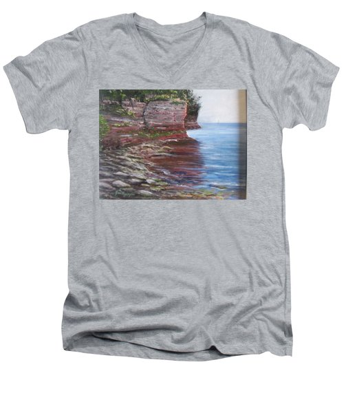 Sail Into The Light Men's V-Neck T-Shirt