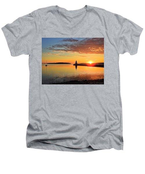 Sail Into The Sunrise Men's V-Neck T-Shirt