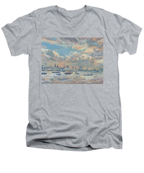 Sail Regatta On The Ij Men's V-Neck T-Shirt