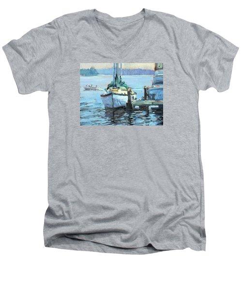 Sailboat At Rest Men's V-Neck T-Shirt