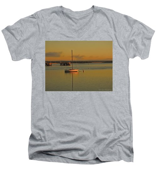 Sailboat Glow Men's V-Neck T-Shirt