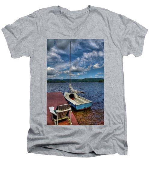Sailboat On First Lake Men's V-Neck T-Shirt