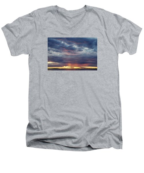 Sailboats On The Bay Men's V-Neck T-Shirt
