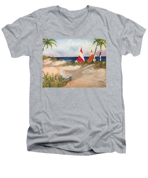 Sailing Along Men's V-Neck T-Shirt