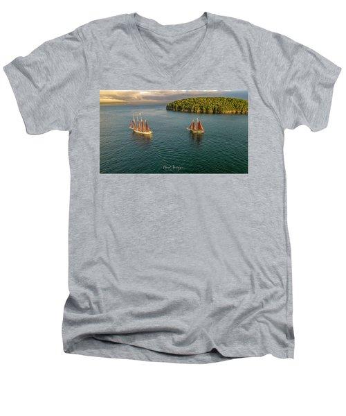 Sailing Frenchman Bay Men's V-Neck T-Shirt