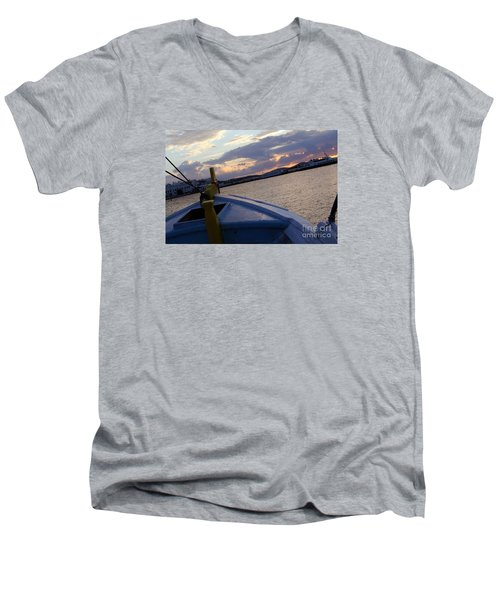 Men's V-Neck T-Shirt featuring the photograph Sailing by Haleh Mahbod
