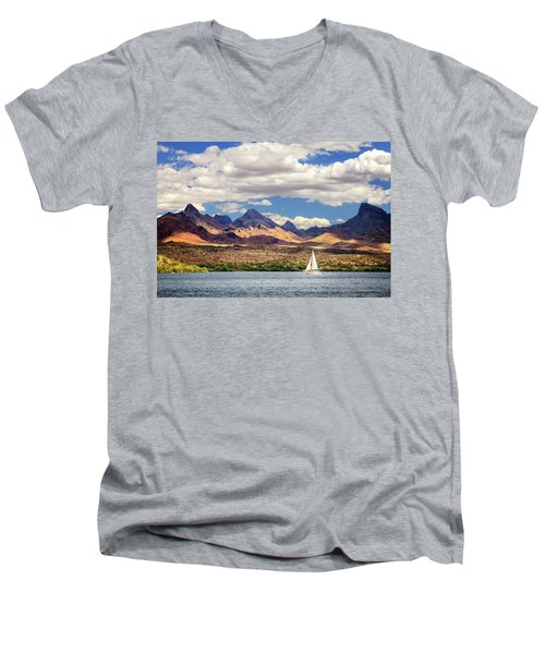 Sailing In Havasu Men's V-Neck T-Shirt