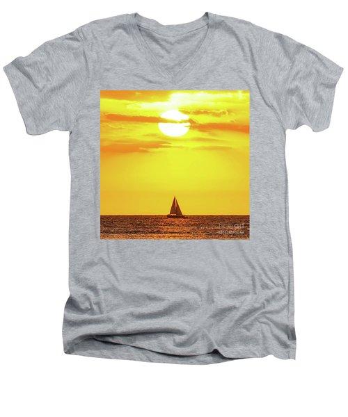 Sailing In Hawaiian Sunshine Men's V-Neck T-Shirt