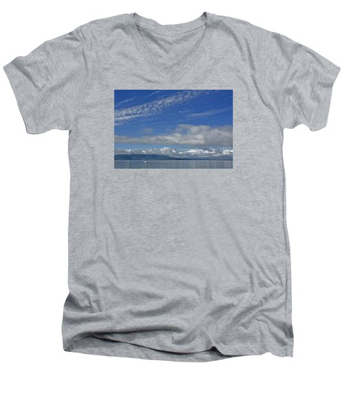 Sailing In The San Juan Islands Men's V-Neck T-Shirt