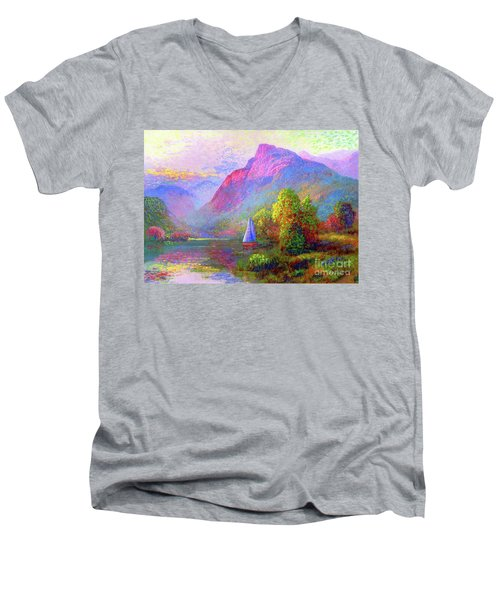 Sailing Into A Quiet Haven Men's V-Neck T-Shirt