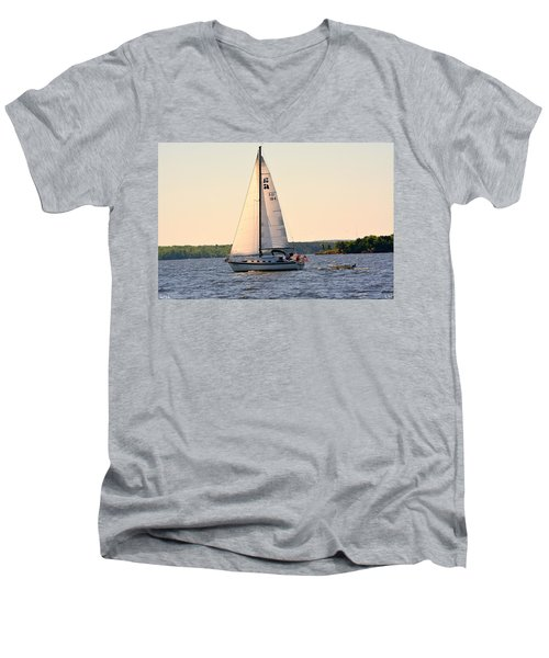 Sailing On Lake Murray Sc Men's V-Neck T-Shirt