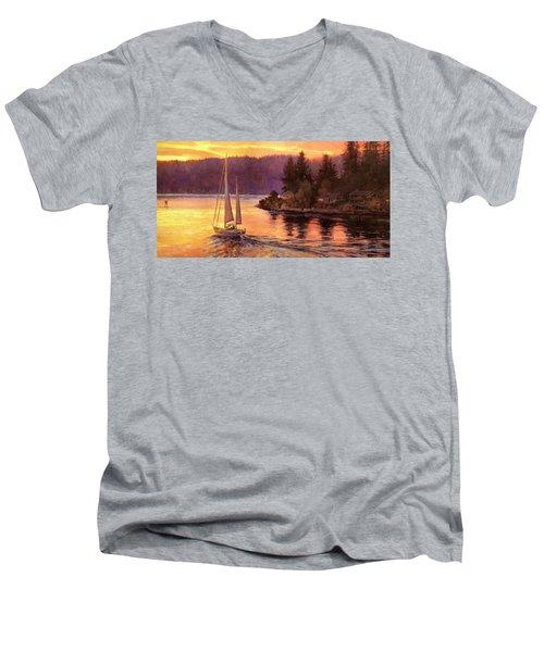 Sailing On The Sound Men's V-Neck T-Shirt