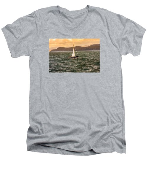 Sailing Outer Hebrides Men's V-Neck T-Shirt